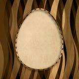 Szczęśliwa wielkanoc - kształt jajko na wzorzystym tle Obraz Royalty Free