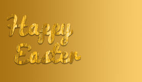 Szczęśliwa wielkanoc z żółtym tkaniny i gradientu tła colour Obraz Stock