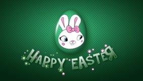 Szczęśliwa Wielkanocna animacja tytułu przyczepy 25 FPS nieskończoność ciemnozielona ilustracja wektor