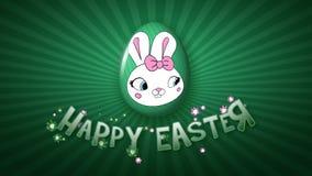 Szczęśliwa Wielkanocna animacja tytułu przyczepy 25 FPS nieskończoność ciemnozielona royalty ilustracja