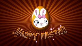 Szczęśliwa Wielkanocna animacja tytułu przyczepy 25 FPS nieskończoność złota ilustracja wektor