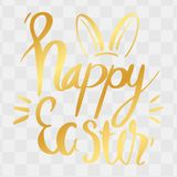 Szczęśliwa Wielkanocna kaligrafia z Abstrakcjonistycznymi królików ucho ideał dla Gre ilustracji