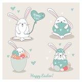 Szczęśliwa Wielkanocna kolekcja Obraz Royalty Free