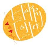 Szczęśliwa Wielkanocna literowanie projekta karta z jajkiem Zdjęcia Royalty Free
