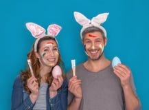 Szczęśliwa Wielkanocna para obraz royalty free