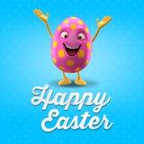 Szczęśliwa Wielkanocna pocztówka, kartka z pozdrowieniami, wesoło Easter gratulacje ilustracja wektor