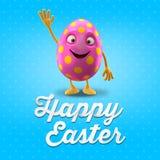 Szczęśliwa Wielkanocna pocztówka, kartka z pozdrowieniami, wesoło Easter gratulacje Obraz Royalty Free