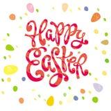 Szczęśliwa Wielkanocna powitanie inskrypcja Zdjęcie Royalty Free