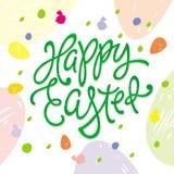 Szczęśliwa Wielkanocna powitanie inskrypcja Obraz Royalty Free