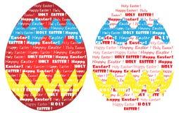 Szczęśliwa Wielkanocna słowo chmura jako malujący jajeczny cor ilustracja wektor