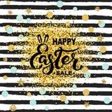 Szczęśliwa Wielkanocna sprzedaż ilustracja wektor