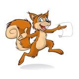 Szczęśliwa wiewiórka ilustracja wektor