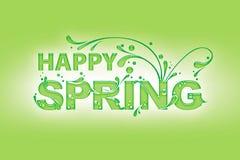 Szczęśliwa wiosna Obrazy Royalty Free