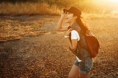 szczęśliwa wolności TARGET1336_0_ kobieta Fotografia Stock