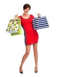 Szczęśliwa zakupy kobieta Zdjęcia Royalty Free