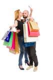 Szczęśliwa zakupy para używa kredytową kartę Zdjęcie Royalty Free