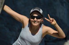 szczęśliwa zdrowa kobieta Fotografia Stock