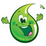 Zielona szczęśliwa kropla Zdjęcia Royalty Free