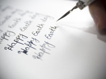 Szczęśliwa ziemskiego dnia kaligrafia i lattering Zdjęcie Stock