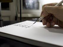 Szczęśliwa ziemskiego dnia kaligrafia i lattering Obraz Stock