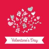 szczęśliwe dni valentines ilustracji