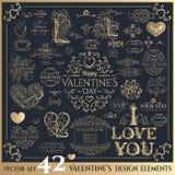 szczęśliwe dni valentines Złoty literowanie Fotografia Stock