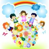 szczęśliwe dzieci Zdjęcie Stock