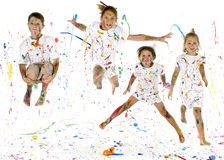 szczęśliwe dzieci Obrazy Royalty Free
