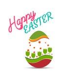 Szczęśliwe Easter karty ilustracyjne Fotografia Royalty Free