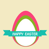Szczęśliwe Easter karty ilustracyjne Zdjęcie Royalty Free
