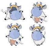 szczęśliwe krowy Sztuka kreskówka Zdjęcia Royalty Free