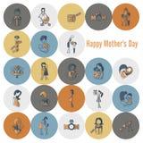 Szczęśliwe matka dnia ikony Fotografia Royalty Free