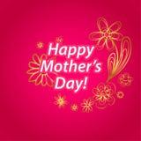 szczęśliwe matki karciany dzień Zdjęcie Royalty Free