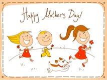 szczęśliwe matki karciany dzień Obraz Royalty Free