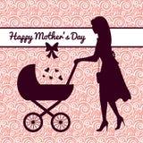 szczęśliwe matki karciany dzień Zdjęcia Royalty Free