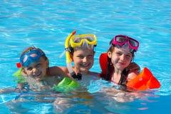 szczęśliwe pływaka obraz royalty free