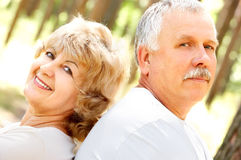 szczęśliwe par starsze osoby Fotografia Royalty Free