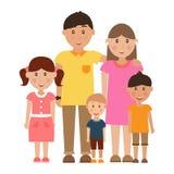 szczęśliwe rodzinne young Zdjęcia Royalty Free