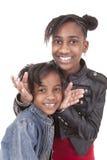 Szczęśliwe siostry zdjęcie stock