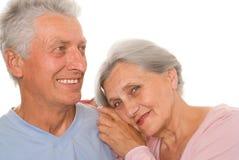 Szczęśliwe starsze osoby dobierają się wpólnie zdjęcia royalty free