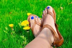 szczęśliwe stopy Zdjęcia Stock