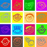szczęśliwe twarzy płytki Fotografia Royalty Free