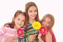Szczęśliwe uśmiechnięte siostry Obraz Stock
