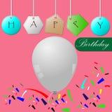 szczęśliwe urodzinowe karty Obraz Royalty Free