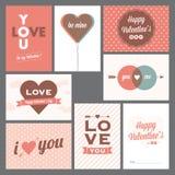 Szczęśliwe valentineâs pielenia i dnia pocztówki Obrazy Royalty Free