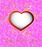 Szczęśliwe valentines dnia karty Zdjęcia Stock