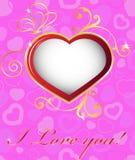 Szczęśliwe valentines dnia karty Obrazy Royalty Free