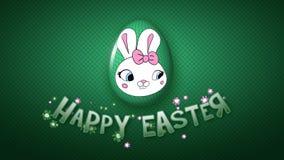 Szczęśliwe Wielkanocne animacja tytułu przyczepy 30 FPS kropki ciemnozielone ilustracja wektor
