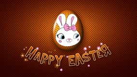 Szczęśliwe Wielkanocne animacja tytułu przyczepy 30 FPS kropki złote royalty ilustracja