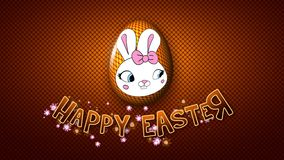 Szczęśliwe Wielkanocne animacja tytułu przyczepy 50 FPS kropki złote ilustracja wektor